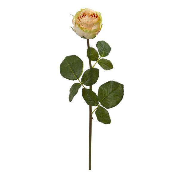 Nearly Natural Indoor 18 Rose Spray Artificial Flower (Set of 12)