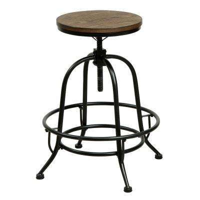Dirk 24 in. Medium Oak Bar Stool (Set of 2)