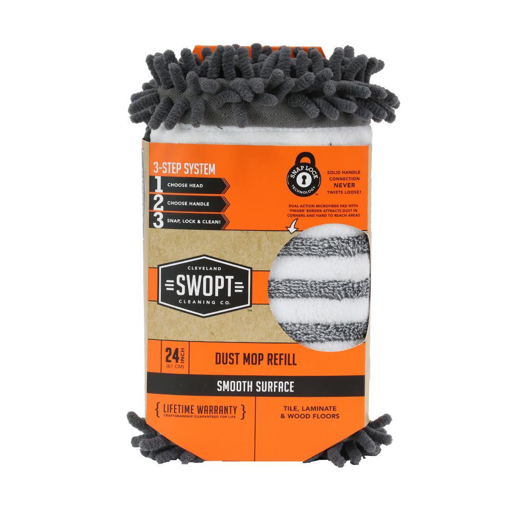 24 in. Dust Mop Microfiber Combo Refill