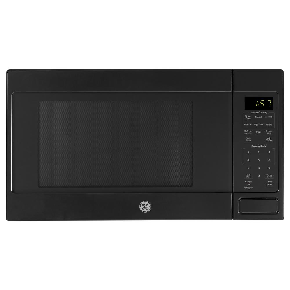 1.6 cu. ft. Countertop Microwave in Black with Sensor Cooking Technology
