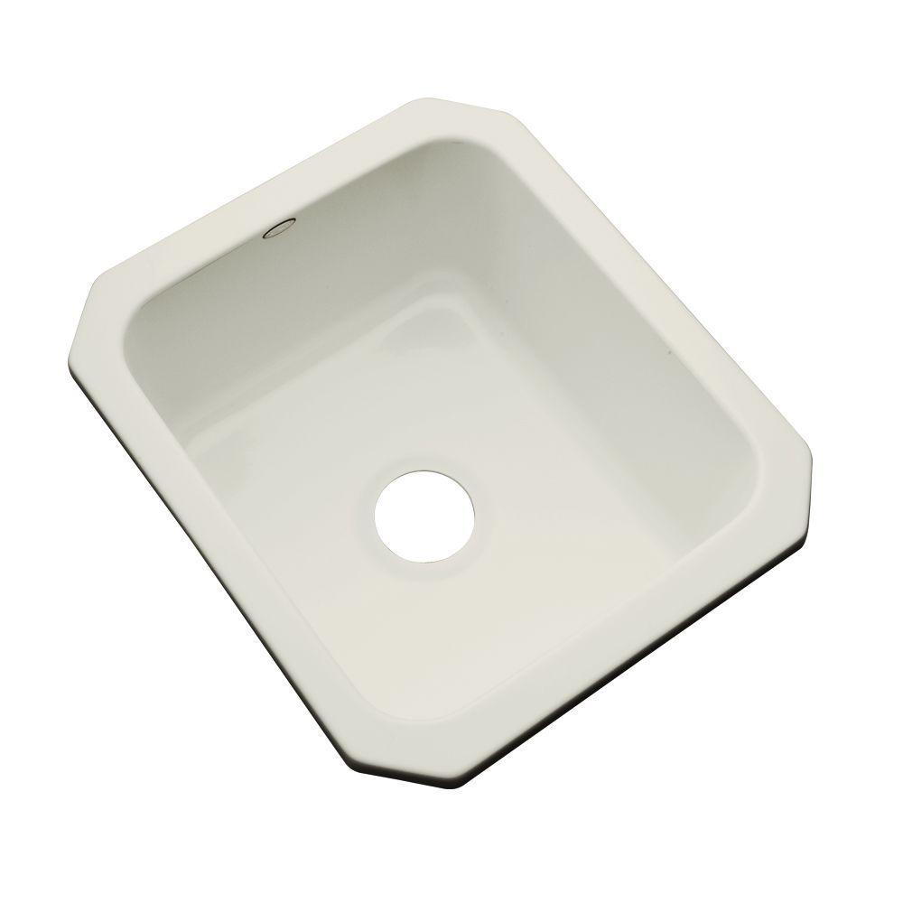Crisfield Undermount Acrylic 17 in. Single Bowl Entertainment Sink in Tender Grey