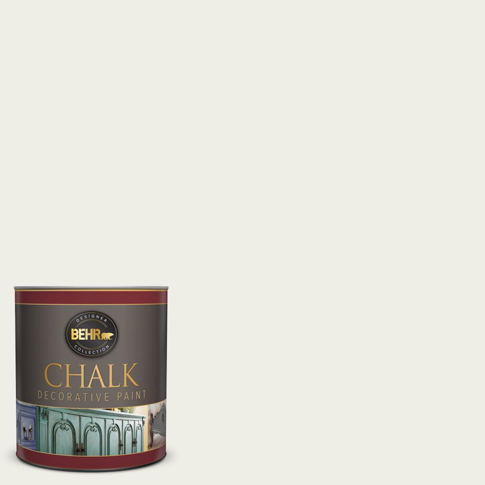 BEHR 1 qt. #PPU10-13 Snowy Pine Interior Chalk Finish Paint
