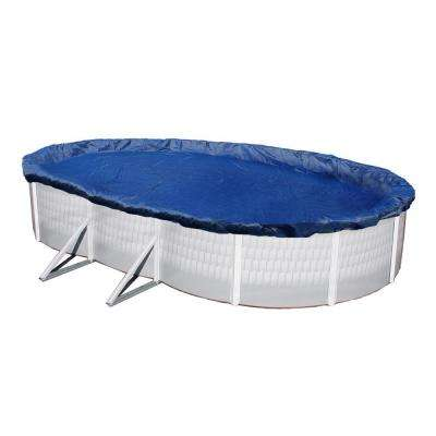 15-Year 12 ft. x 24 ft. Oval Royal Blue Above Ground Winter Pool Cover