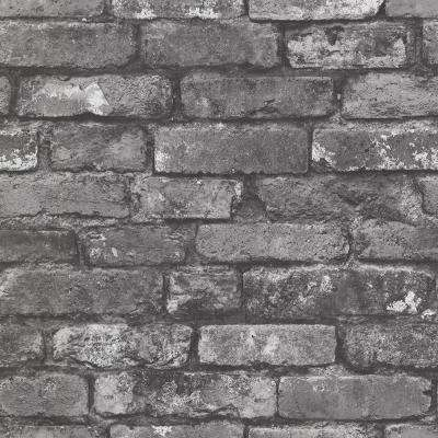 Brickwork Slate Exposed Brick Wallpaper ...