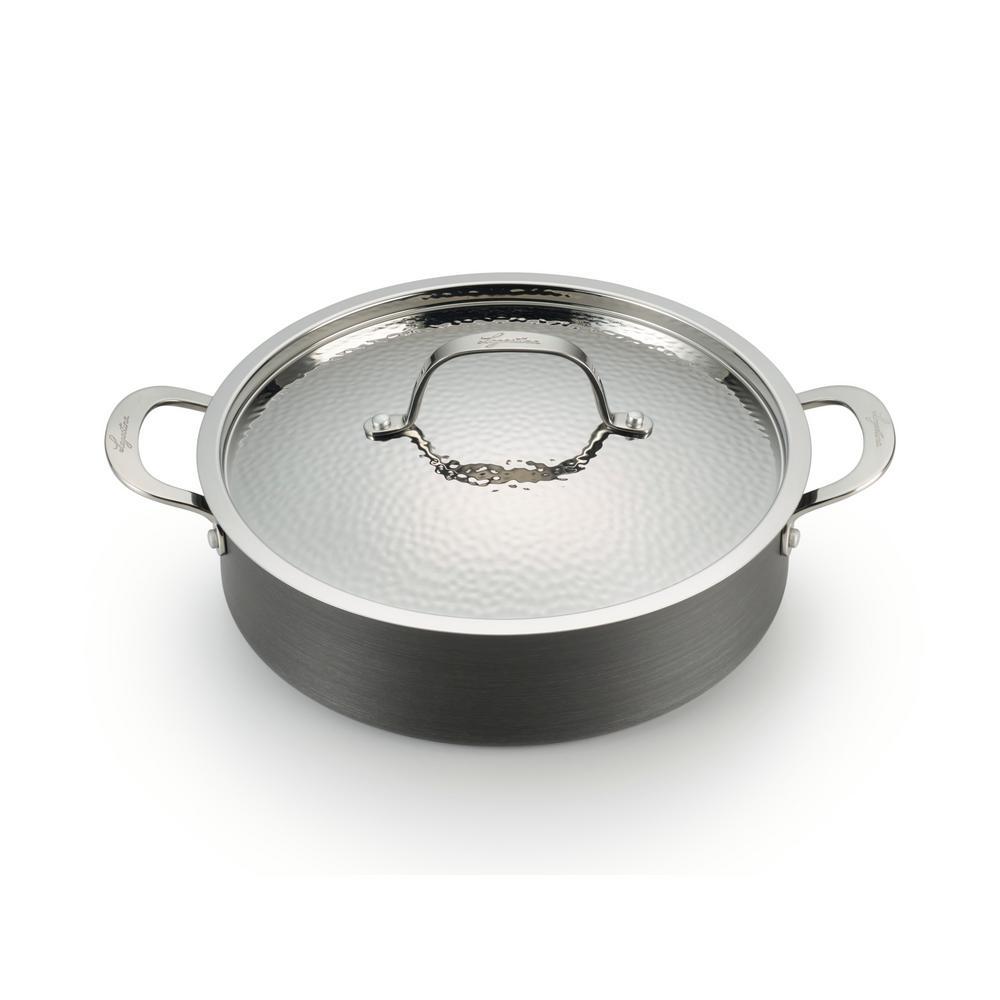 Lagostina Nera 5 Qt. Hard Anodized Aluminum Covered Casserole H9047264