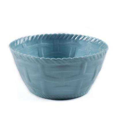 Woven Turquoise Melamine Cereal Bowl (Set of 4)