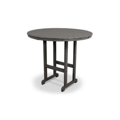 Monterey Bay Stepping Stone 48 in. Round Patio Bar Table