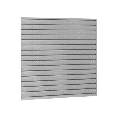 Pro Series 16 sq. ft. 96 in. W x 24 in. H Diamond Plate Steel Slatwall