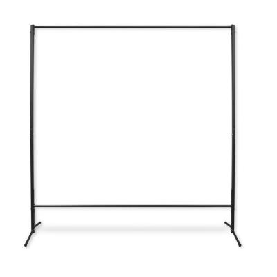74 in. H x 80 in. W Room Dividers, Multi-Purpose Portable Rod Stand in Black