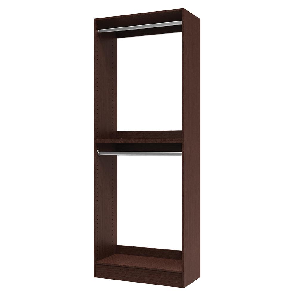 Modifi 15 in. D x 30 in. W x 84 in. H Utility Tower and Melamine Closet System Kit in Mocha