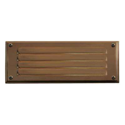 7.75 in. 12-Watt Matte Bronze Step and Stair Deck Light