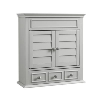 Lydia 23.63 in. W x 25 in. H x 14.13 in. D Surface-Mount Medicine Cabinet in Gray