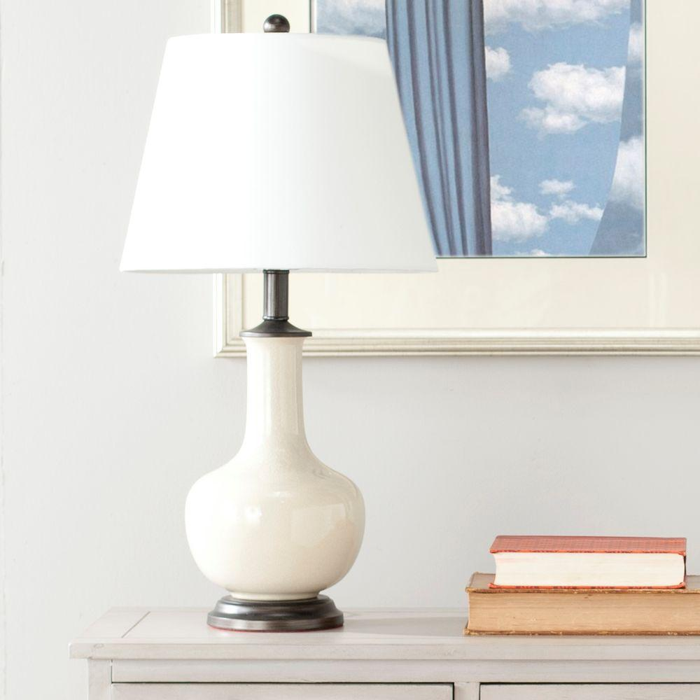 White Table Lamps Lamps The Home Depot
