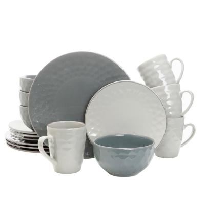 Tahitian Pearl 16-Piece Misty Blue Dinnerware Set