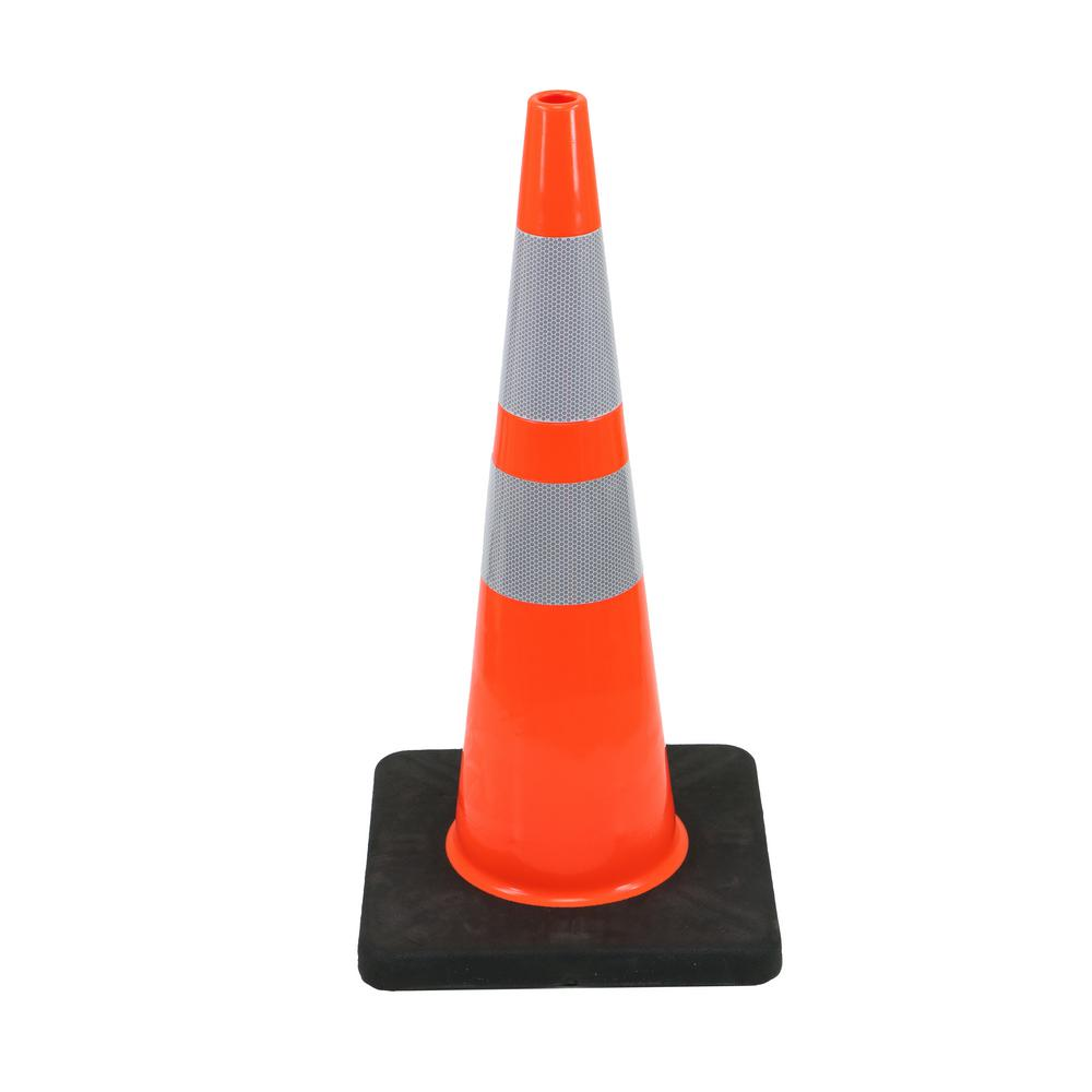 HDX HDX 28 in. Orange Reflective PVC Injection Molded Cone