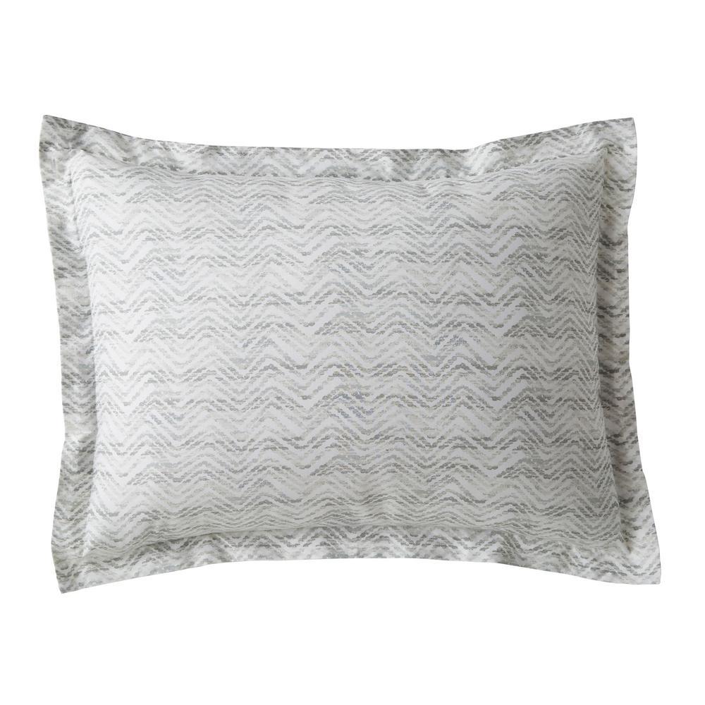 Ryder Chevron Striped 200-Thread Count Cotton Percale Standard Sham