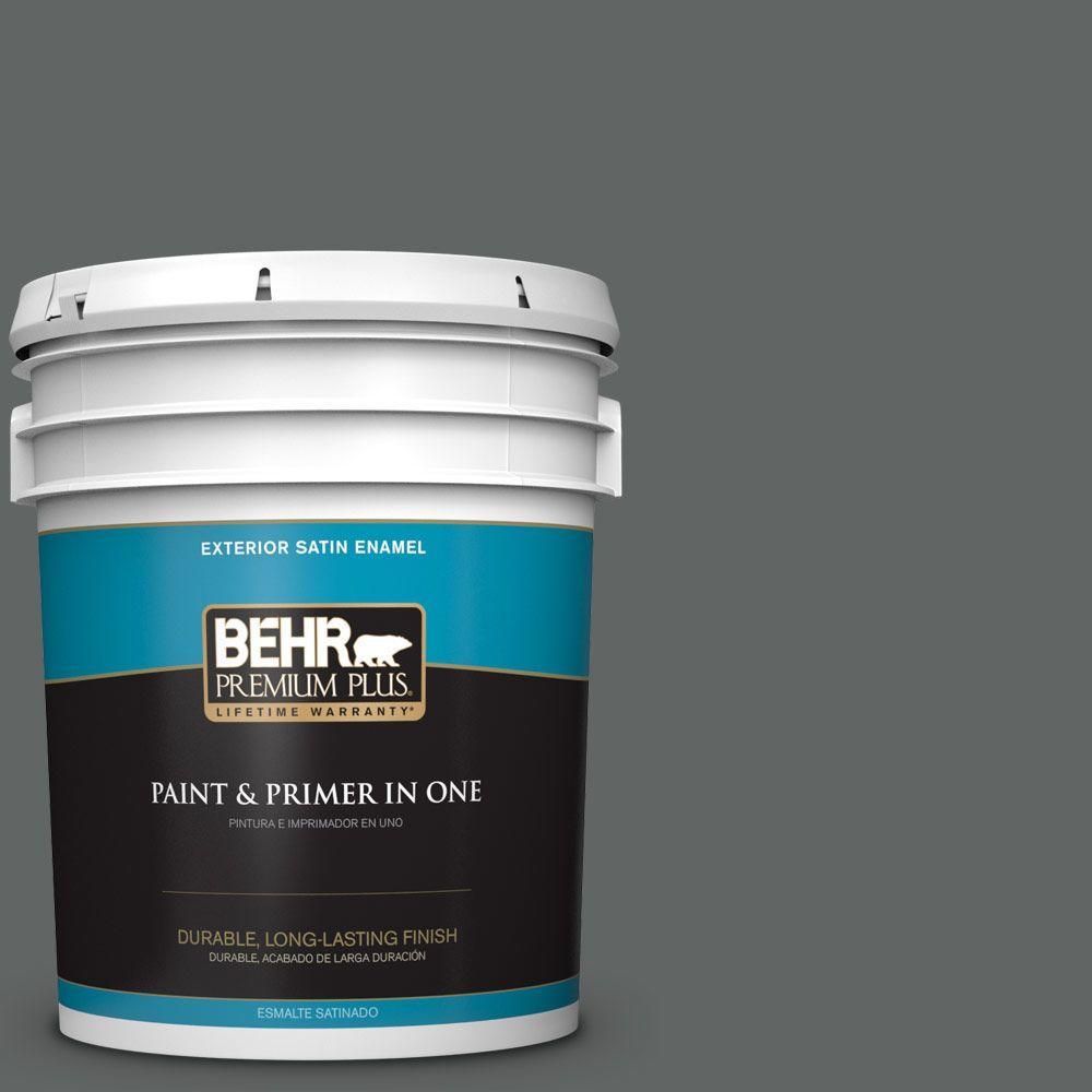 5-gal. #BXC-41 Charcoal Satin Enamel Exterior Paint