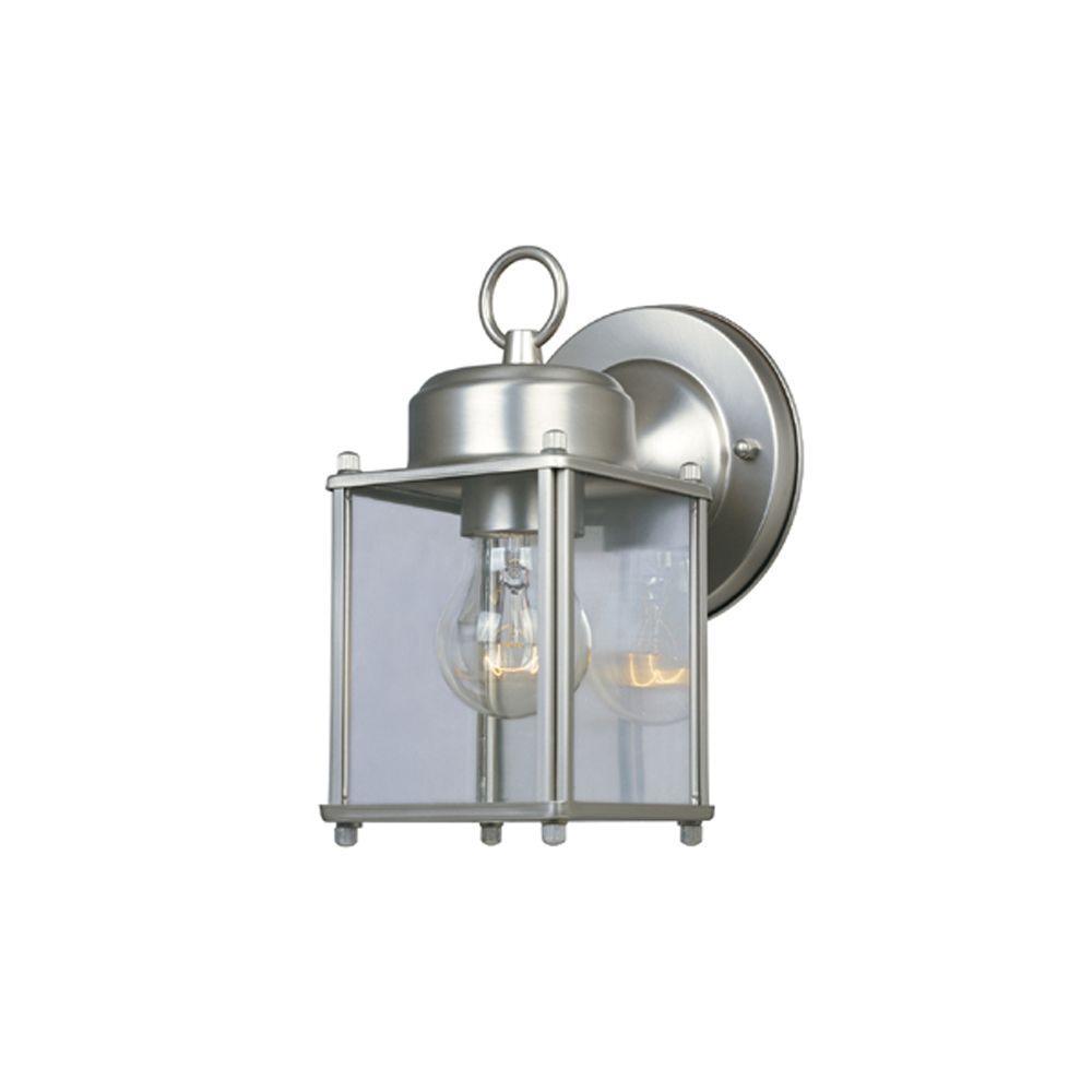 Preston Collection Pewter Outdoor Wall-Mount Lantern