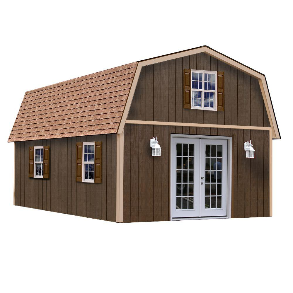 best barns richmond 16 ft x 24 ft wood storage building. Black Bedroom Furniture Sets. Home Design Ideas
