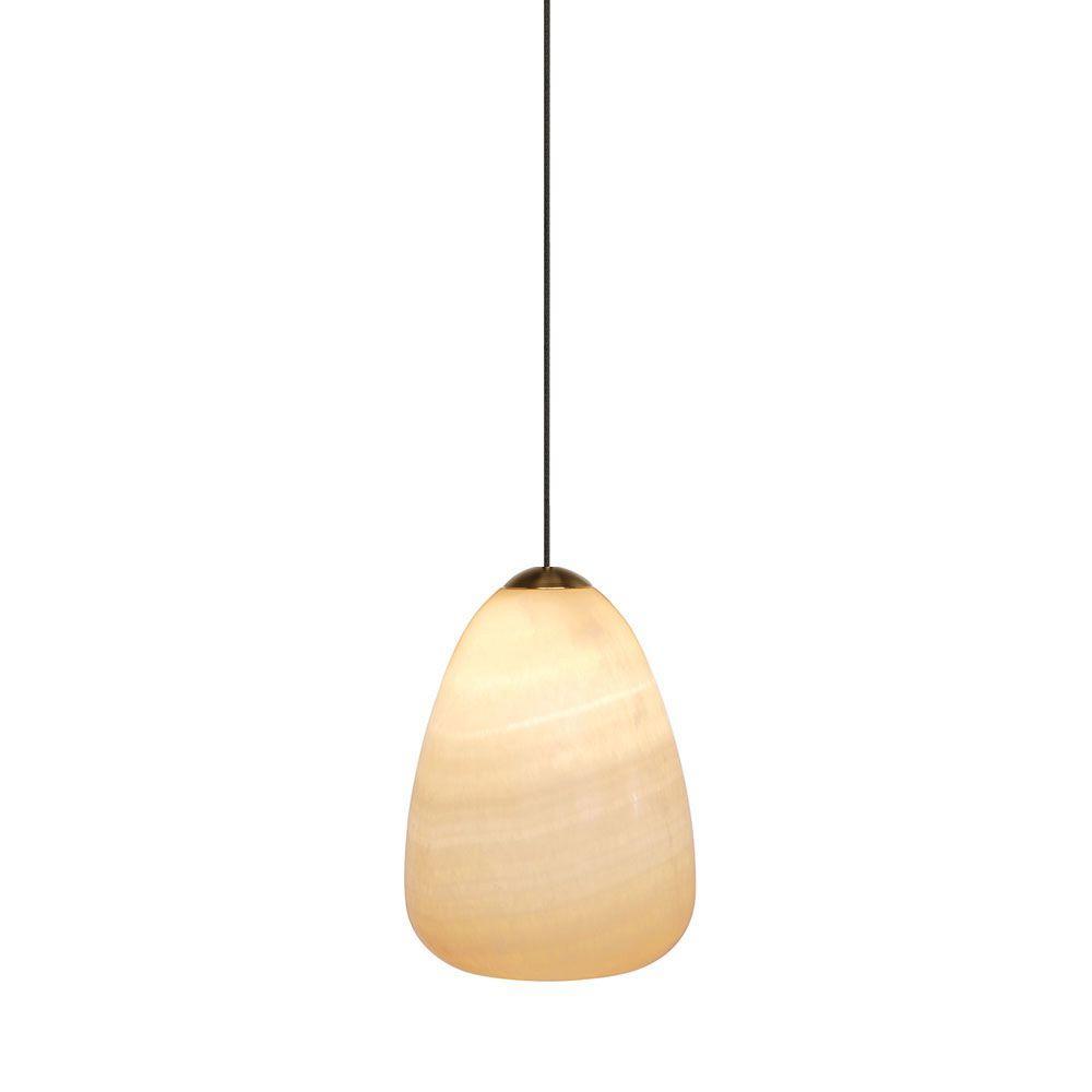 LBL Lighting Onyx Teardrop 1-Light Bronze Hanging Mini Pendant