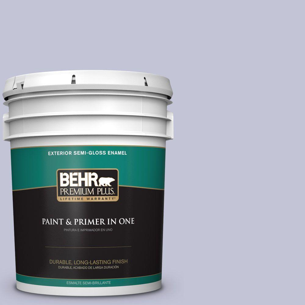 BEHR Premium Plus 5-gal. #630E-3 Grape Lavender Semi-Gloss Enamel Exterior Paint