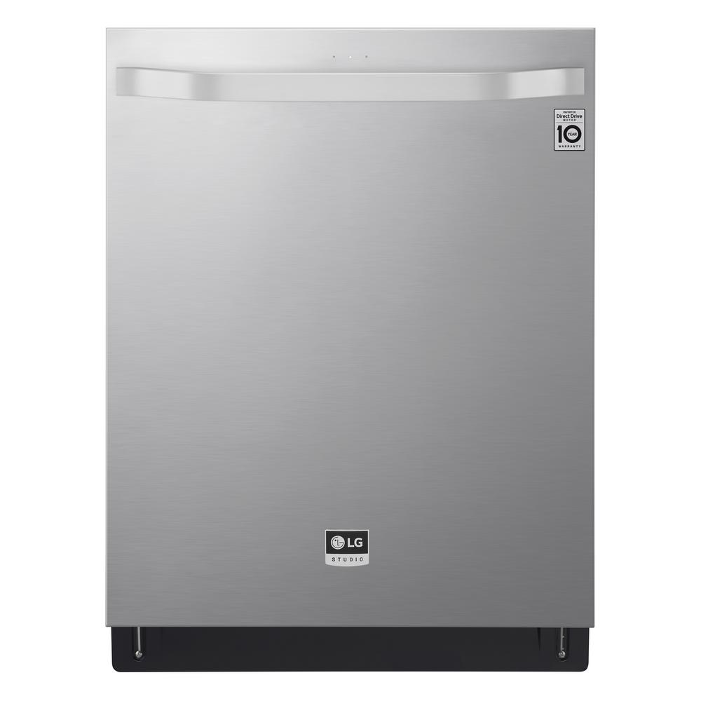 LG STUDIO Top Control Tall Tub Smart Dishwasher with TrueSteam, QuadWash, 3rd Rack and Wi-Fi Enabled in Stainless Steel, 40 dBA