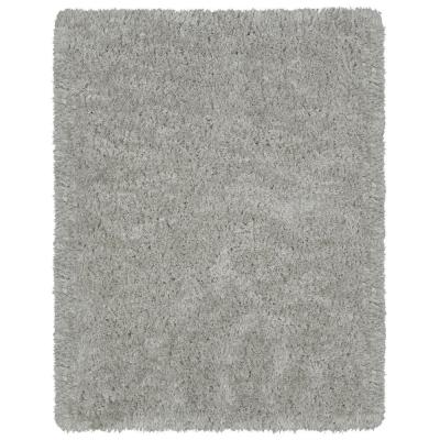 Pure Fuzzy Flokati Grey 2 ft. 7 in. x 5.ft Faux Sheepskin Indoor Area Rug