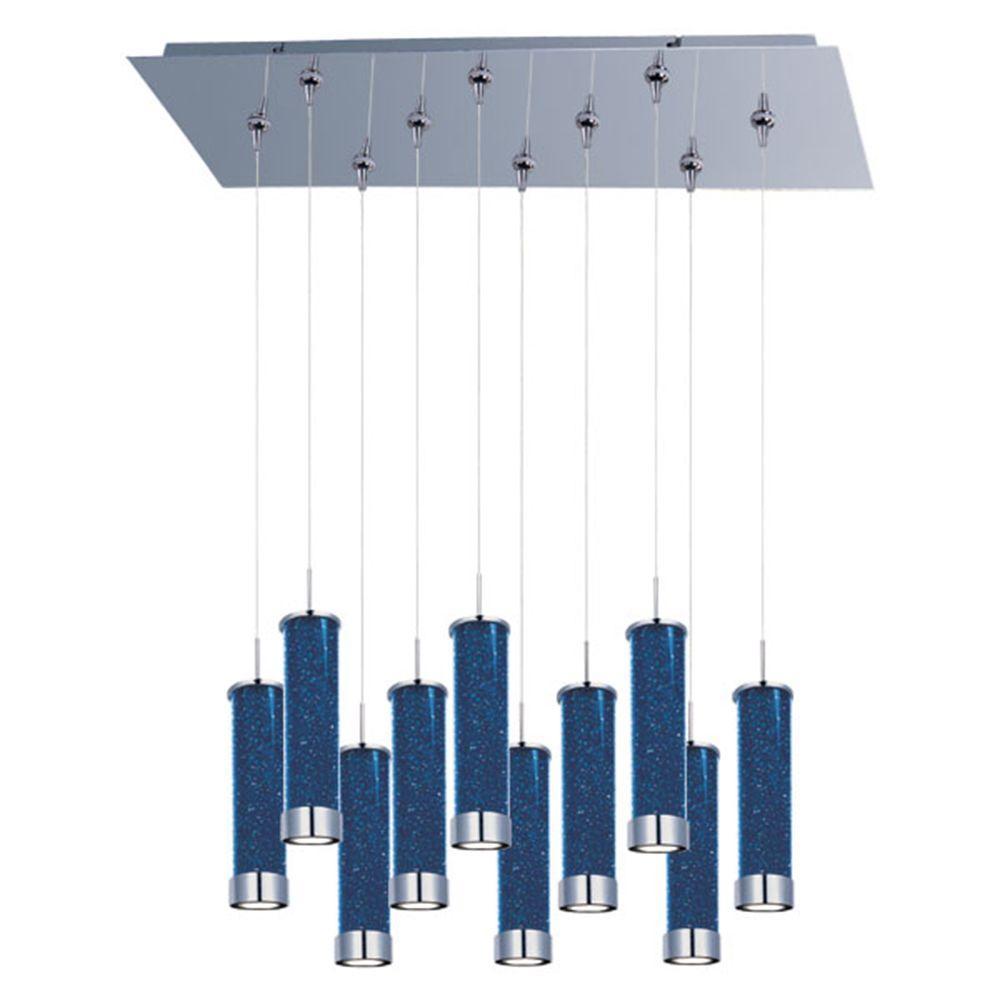 Filament Design Coit 10-Light Polished Chrome LED Ceiling Pendant