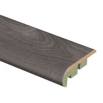 Grey Oak 3/4 in. Thick x 2-1/8 in. Wide x 94 in. Length Laminate Stair Nose Molding