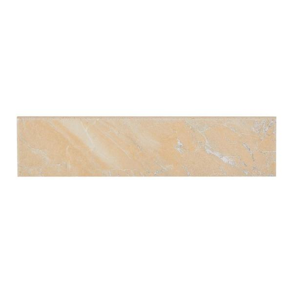 Ayers Rock Solar Summit 3 in. x 13 in. Glazed Porcelain Bullnose Floor and Wall Tile (0.32 sq. ft. / piece)