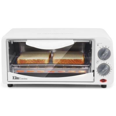Personal 650 W 2-Slice White Toaster Oven with Built-In Timer