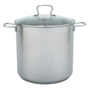 20 Qt. Stock Pot in Stainless Steel with Lid