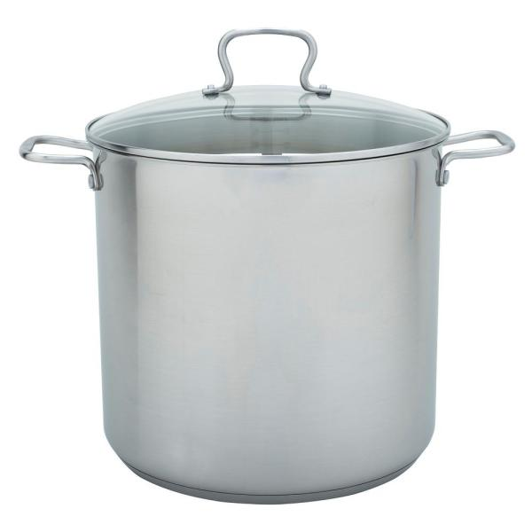 Range Kleen 20 Qt Stock Pot In Stainless Steel With Lid Cw7104