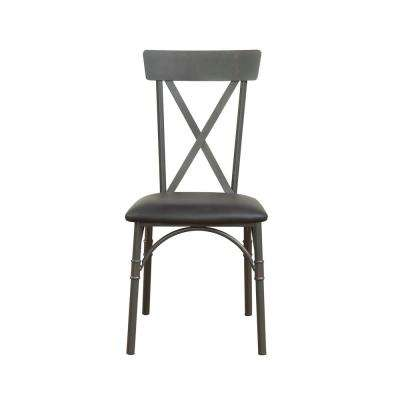 Itzel Sandy Gray and Black PU Side Chair