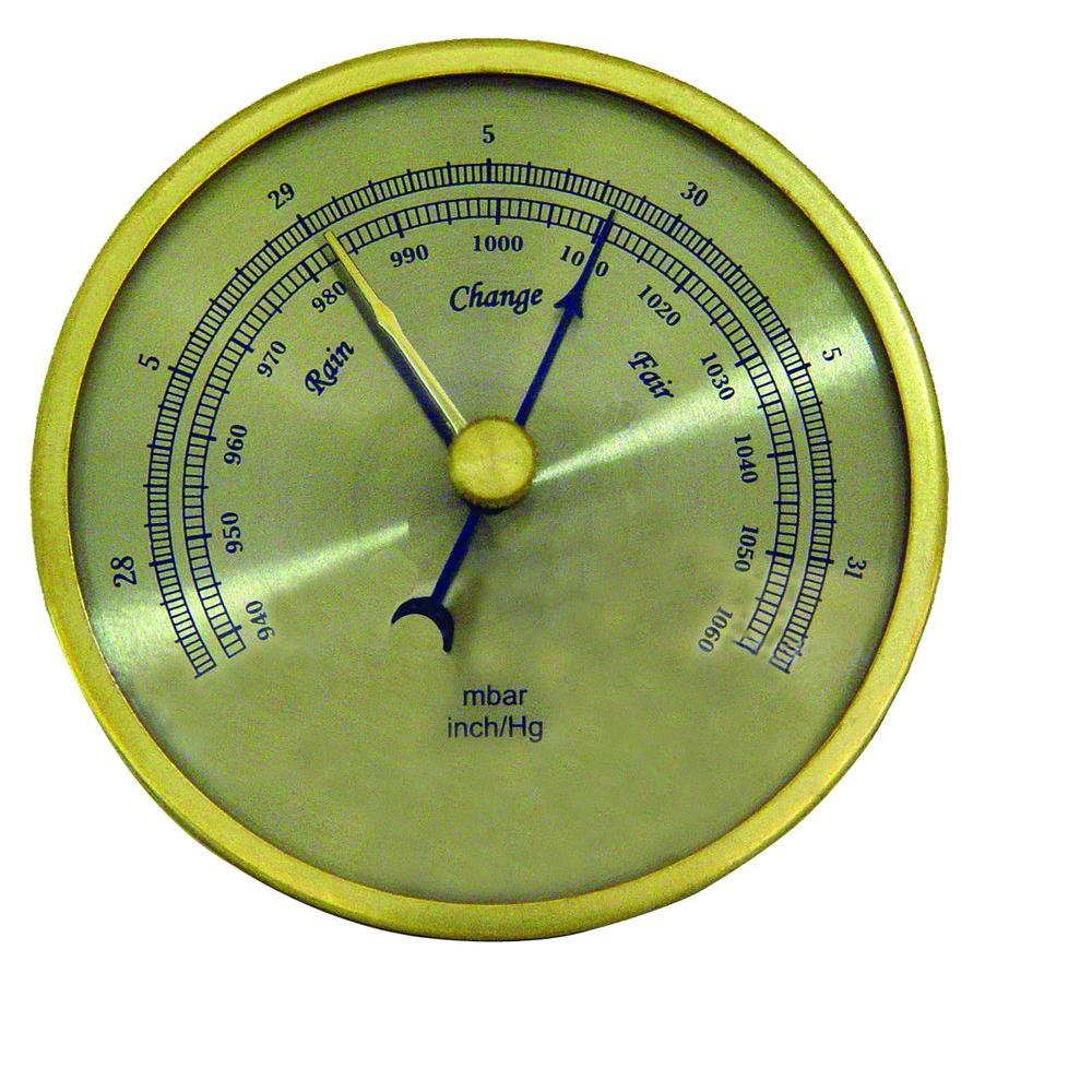 General Tools Analog Barometer with Brass Housing and 3 in. Dial