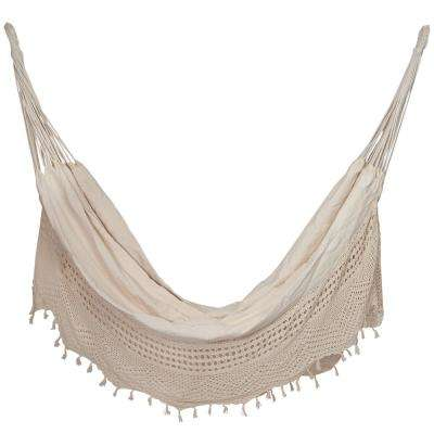 7 ft. Portable Cotton Handwoven Crochet Hammock Bed