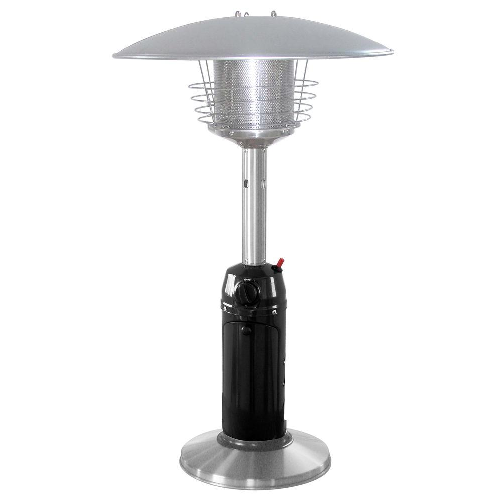 11 000 Btu Portable Black Stainless Steel Gas Patio Heater