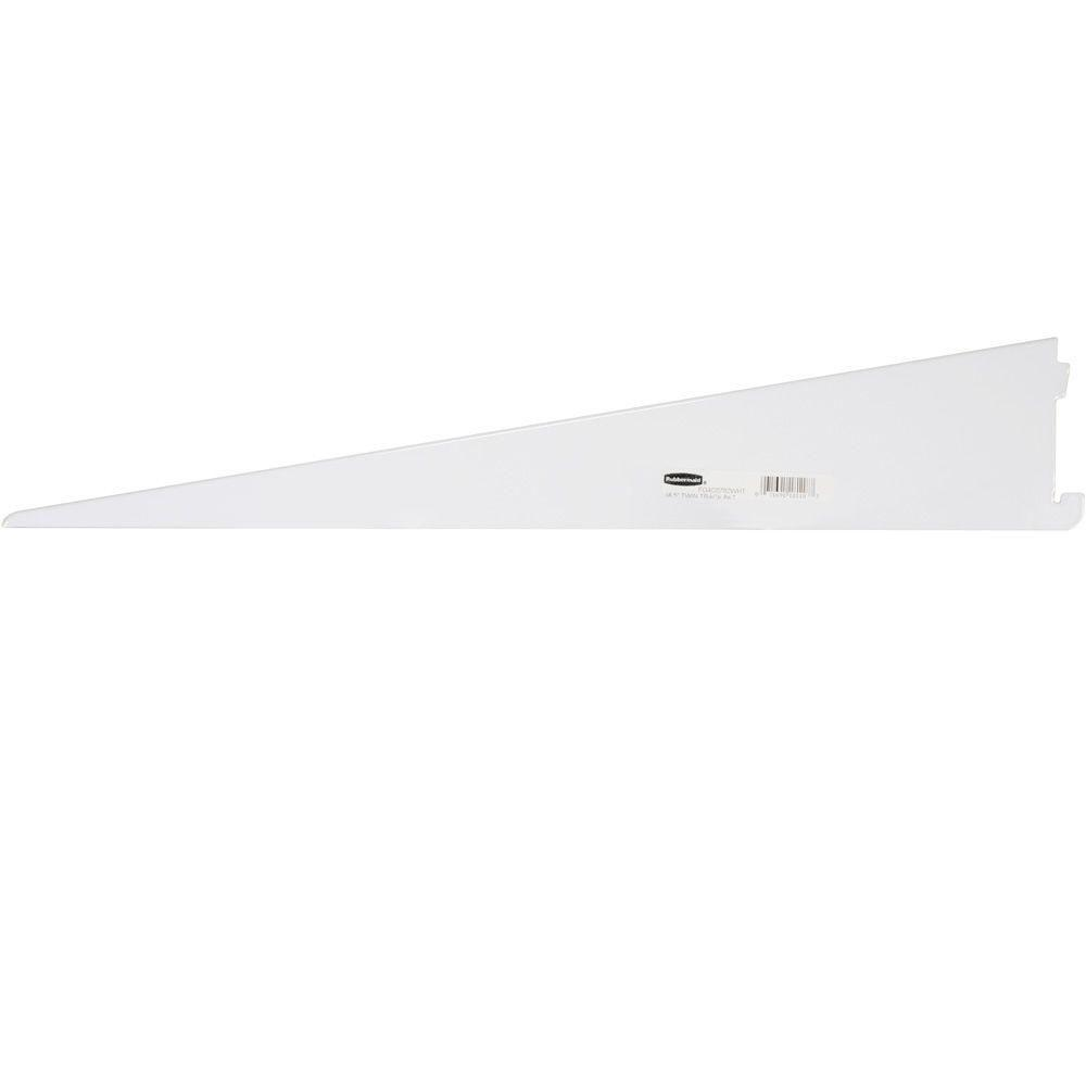 Rubbermaid 18.5 in. White Twin Track Bracket for Wood or Wire ...