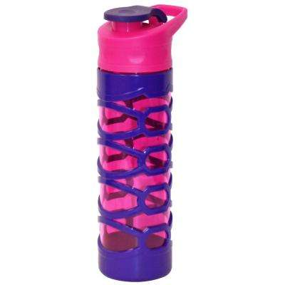 22 oz. Pink and Purple Plastic Tritan Hydration Bottle (6-Pack)