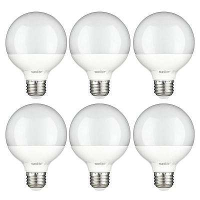 60-Watt Equivalent Frost G25 Dimmable LED Light Bulb, Warm White (6-Pack)