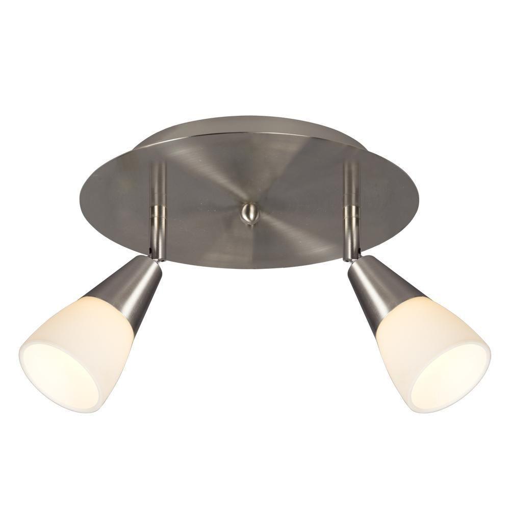 Carter 2-Light Brushed Nickel Track Lighting Kit