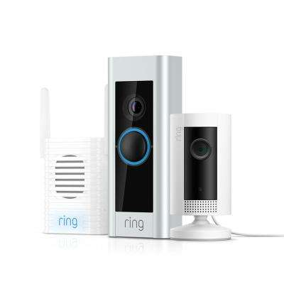 1080p HD Wi-Fi Wired Video Doorbell Pro with Indoor Cam and Chime Pro