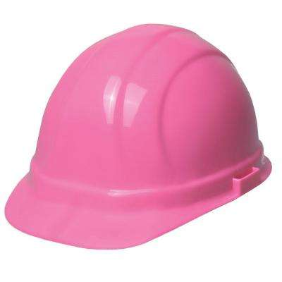 Omega II 6 Point Nylon Suspension Slide-Lock Cap Hard Hat in Hi Viz Pink