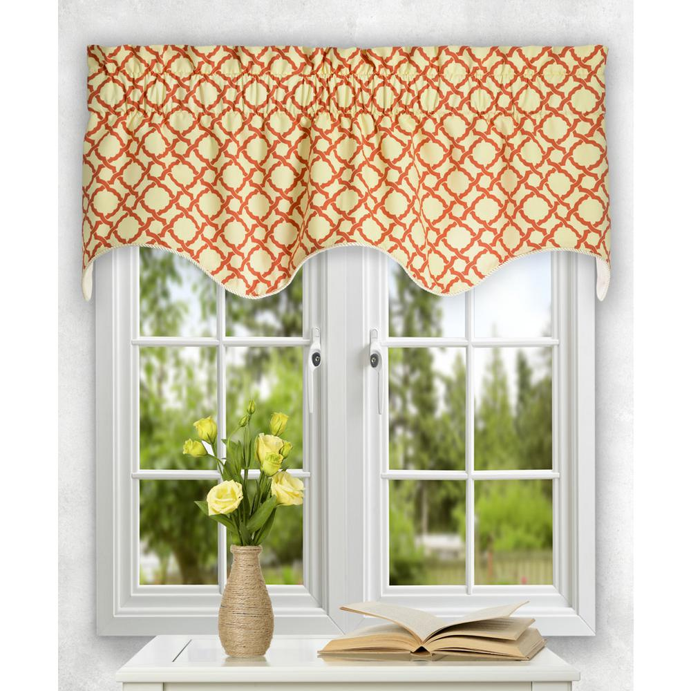 Ellis Curtain Kent Crossing 15 in. L Cotton Lined Duchess Filler Valance in Clay