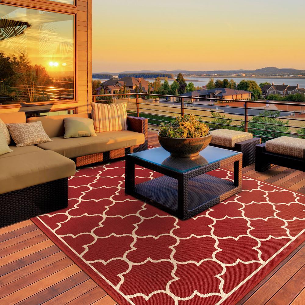 Valley Red 8 ft. x 11 ft. Indoor/Outdoor Area Rug