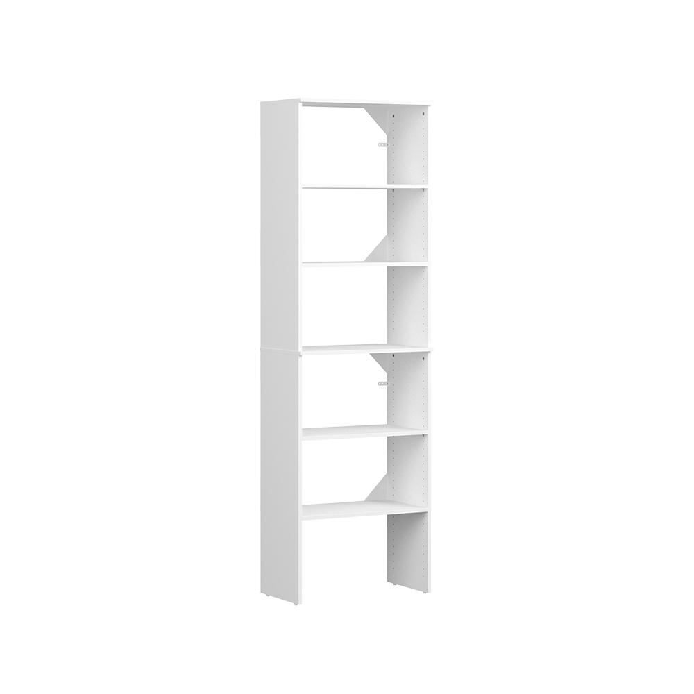 ClosetMaid Style+ 15 in. D x 25 in. W x 82 in. H White Melamine Floor Mount 6-Shelves Closet System