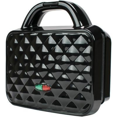 Couture Purse Black Nonstick Dual Waffle Maker