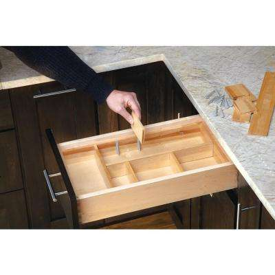 2.5 in. H x 9.88 in. W x 32 in. D Small Adjustable Wood Drawer Organizer Kit