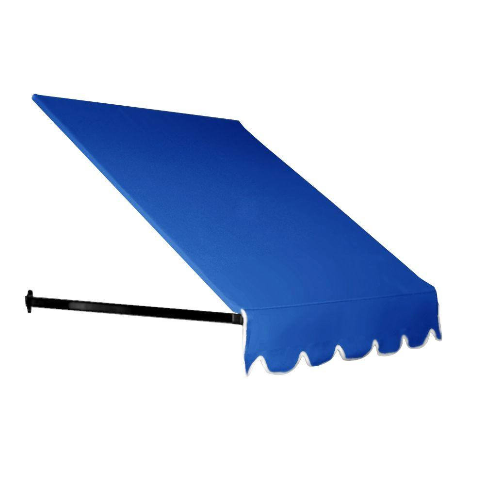 AWNTECH 6 ft. Dallas Retro Awning (18 in. H x 36 in. D) in Bright Blue for Low Eaves