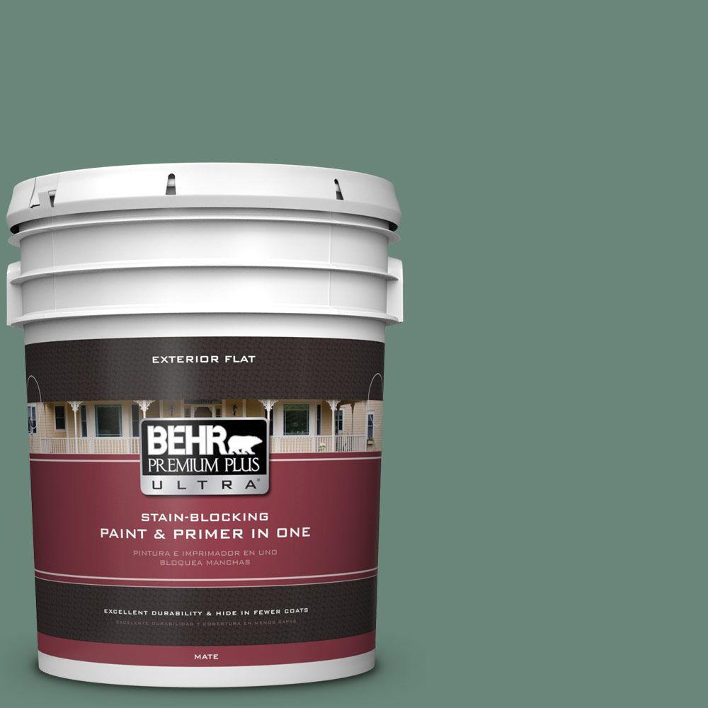 BEHR Premium Plus Ultra 5-gal. #470F-5 Garland Flat Exterior Paint